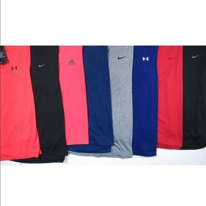 Lot Of 8 Nike Under Armour Adidas Mens T Shirts